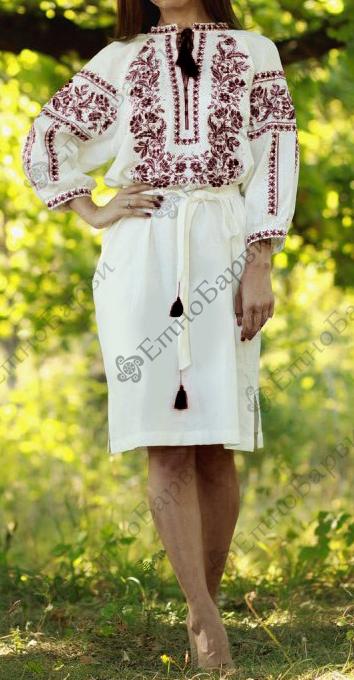 Схеми вишивки бісером плаття на довгий рукав    ЕтноБарви 7bbba7229cea2