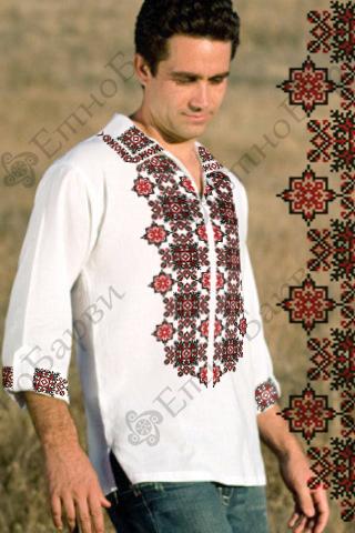 24b1b52ad21daa Чоловічі вишиванки схеми виконані з габардину або домотканого полотна